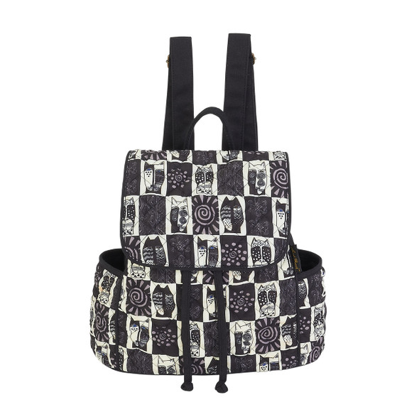 Laurel Burch Black White Wild Cats BackPack LB5991