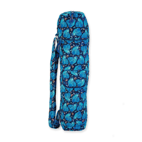 Laurel Burch Indigo Cats Quilted Cotton Yoga Bag LB6322