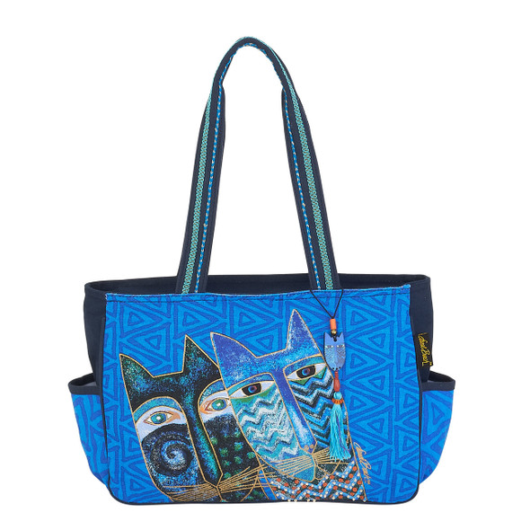 Laurel Burch Blue Cats Medium Tote - LB6032