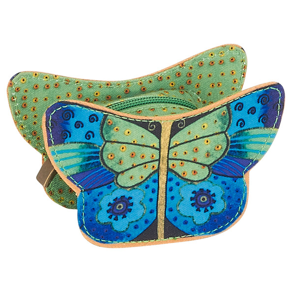 Laurel Burch Butterflies Coin Purse - JADE - LB6180B