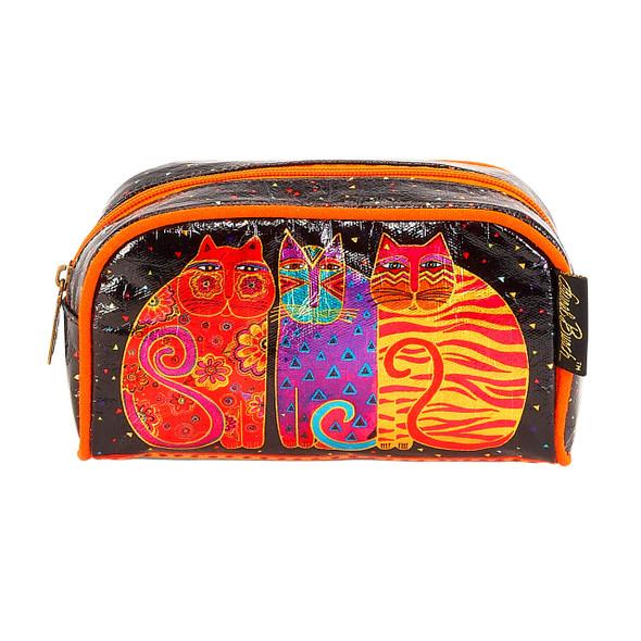 Laurel Burch Feline Friends Cats Foil Cosmetic Bag LB6210A
