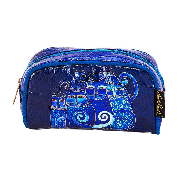 Laurel Burch Indigo Cats Foil Cosmetic Bag LB6210D