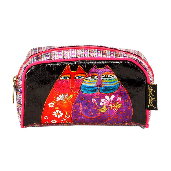 Laurel Burch Two Wishes Cats Foil Cosmetic Bag LB6210F