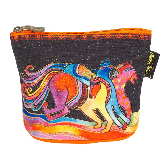 Laurel Burch Mythical Horses Cosmetic Clutch Pouch Caballos LB6290D