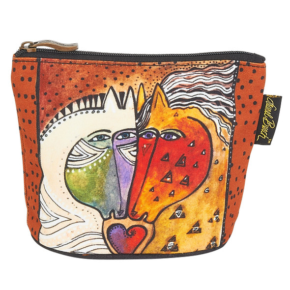 Laurel Burch Mythical Mares Cosmetic Clutch Pouch Love Horses LB6290C