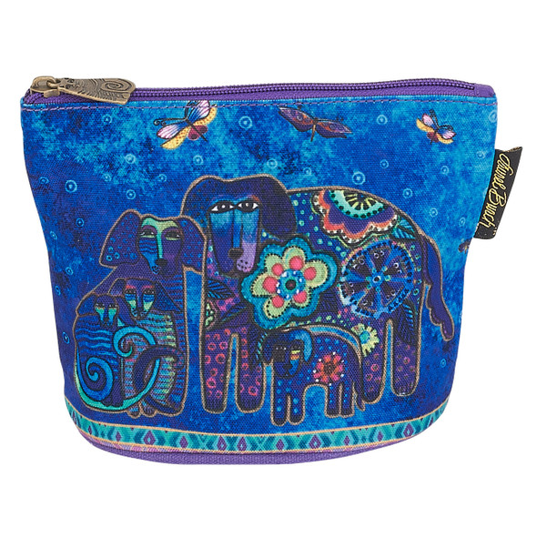 Laurel Burch Dog Cotton Canvas Cosmetic Bag Canine Family - LB6300E
