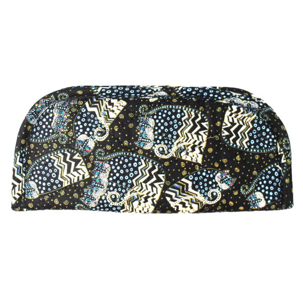 Laurel Burch Black White Polka Dot Wild Cats Quilted Eyeglass Pouch LB6346C