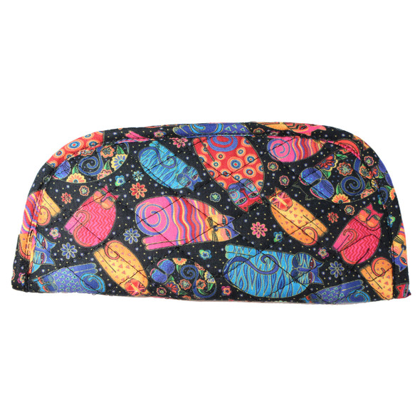 Laurel Burch Multi Feline Cats Quilted Eyeglass Pouch LB6346B