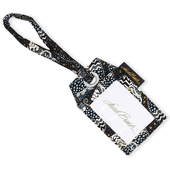 Laurel Burch Black White Polka Dot Wild Cats Single Luggage Tag LB6347C