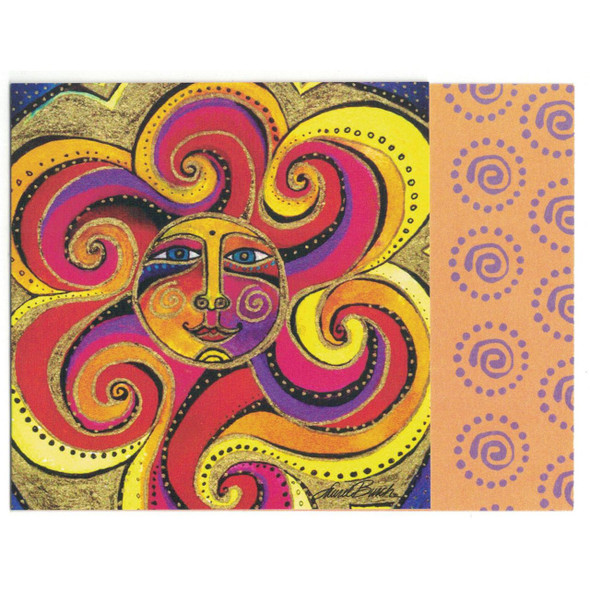 Laurel Burch Cheerful Colorful Sunshine Small Birthday Card - Front