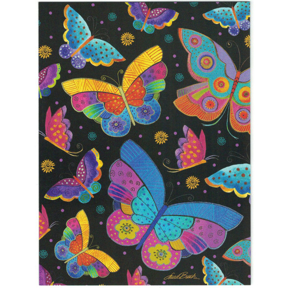 Laurel Burch Blank Greeting Card - Colorful Butterfly Butterflies - Front
