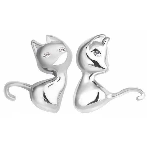 Sitting Cats Stud Earrings Front View