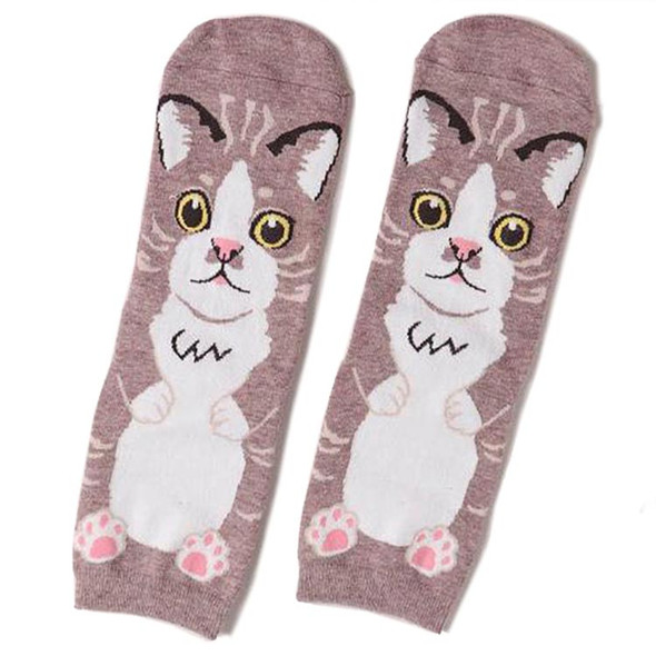 Brown Cat Socks