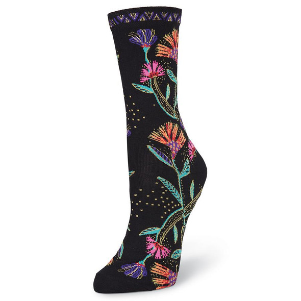 Laurel Burch Wild Flower Crew Socks LBWF17H002