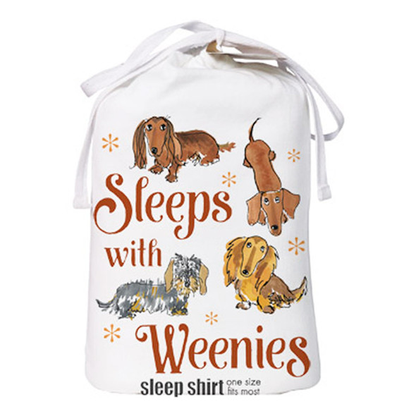 Sleeps with Weenies Dachshund Theme Sleep Shirt Pajamas