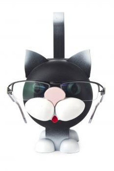 Black Kitty Cat Wooden Eyeglass Holder