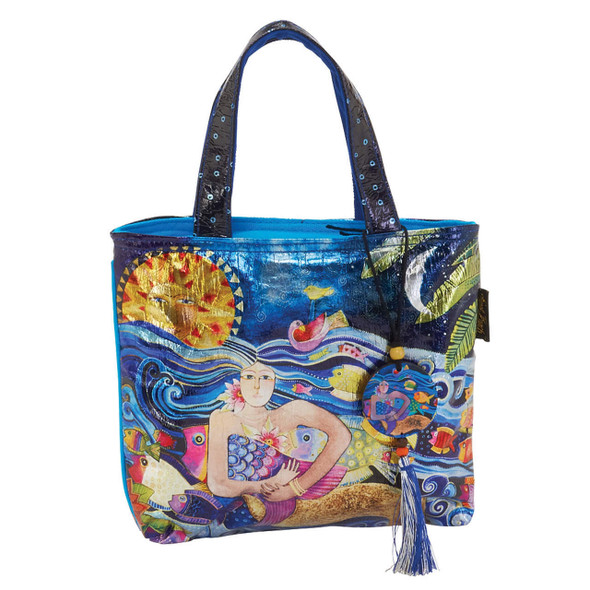 Laurel Burch Ocean Song Foil Small Tote
