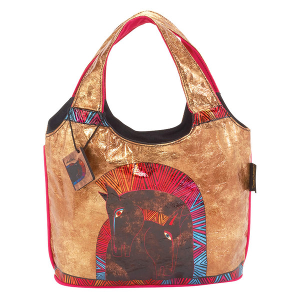 Laurel Burch Embracing Horses Foil Medium Scoop Tote