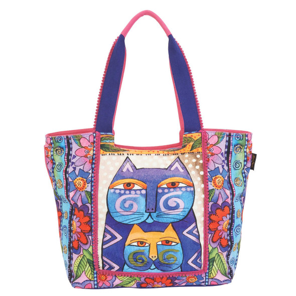 Laurel Burch Stacked Felines Cats Scoop Tote