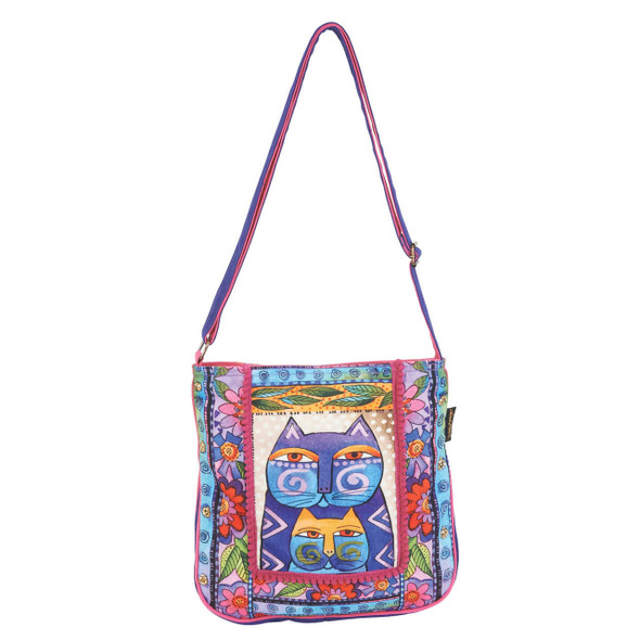 Laurel Burch Stacked Felines Cats Crossbody Tote