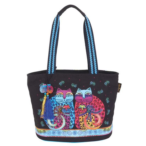 Laurel Burch Feline Set Cats Medium Shoulder Tote