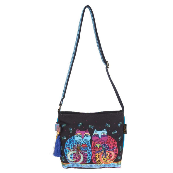 Laurel Burch Feline Set Cats Crossbody Tote