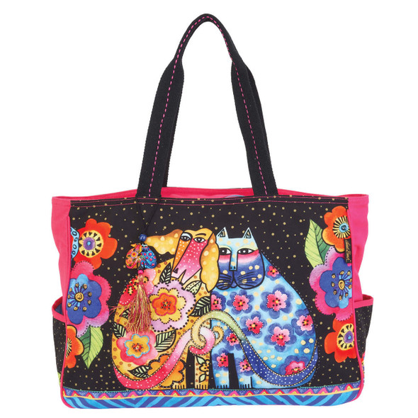 Laurel Burch Kindred Friends Felines Cats Oversize Tote
