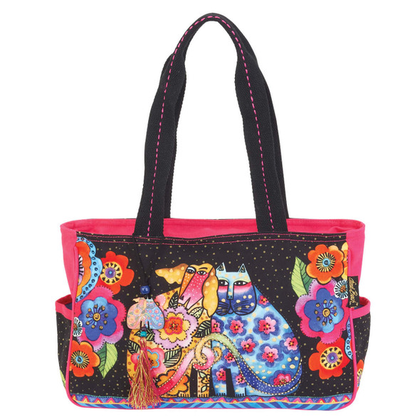 Laurel Burch Kindred Friends Felines Cats Medium Tote