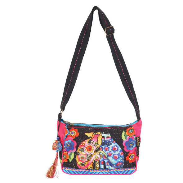 Laurel Burch Kindred Friends Felines Cats Crossbody Tote