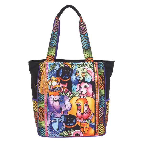 Laurel Burch Canine Clan Stacked Shoulder Tote
