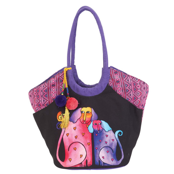 Laurel Burch Caravan of Friends Dogs Scoop Tote