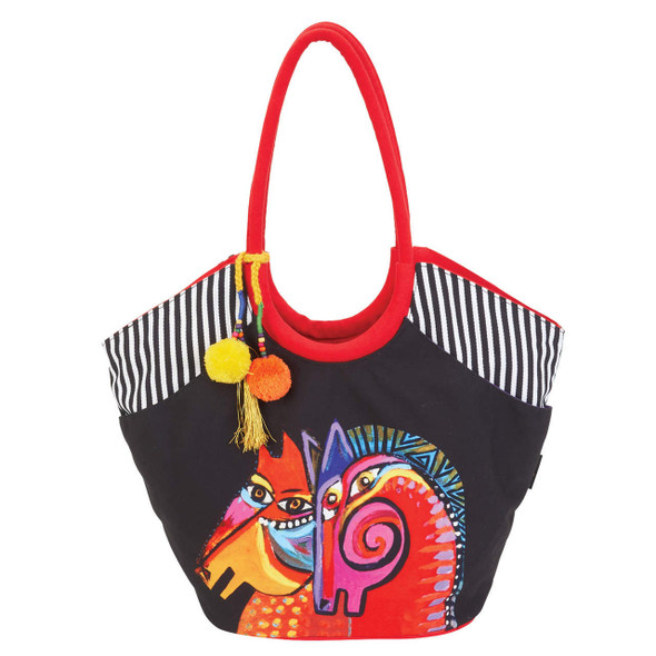Laurel Burch Caravan of Friends Horses Scoop Tote