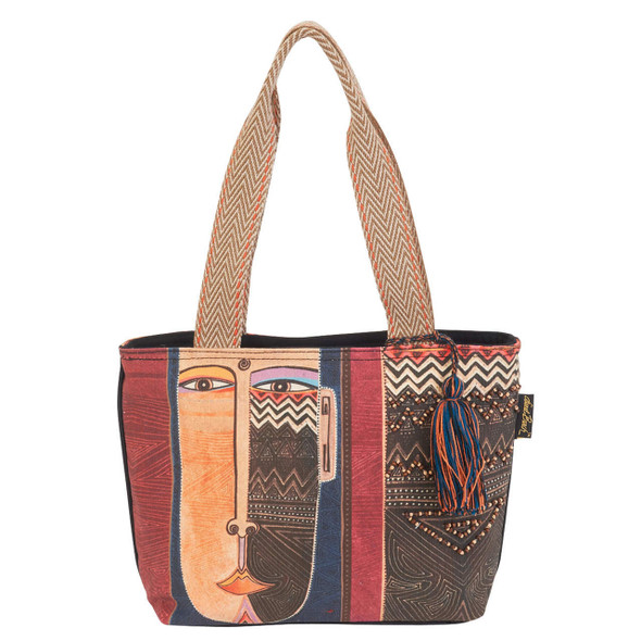 Laurel Burch Celebrating Humankind Canvas Medium Shoulder Tote