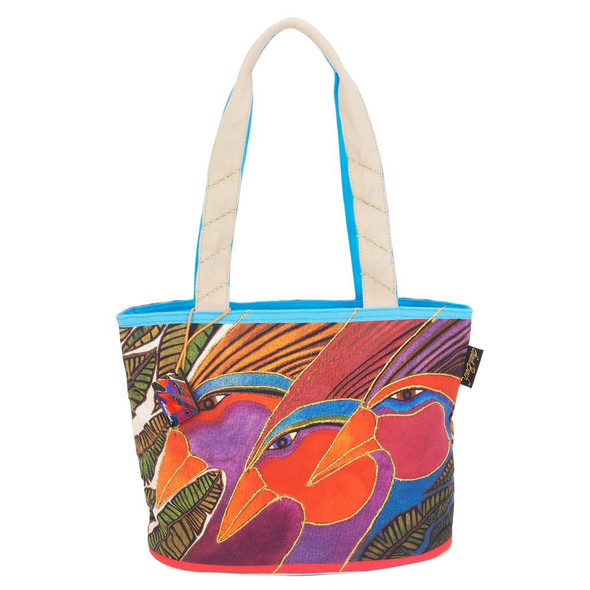 Laurel Burch Harlequin Birds Medium Shoulder Tote - LB6441