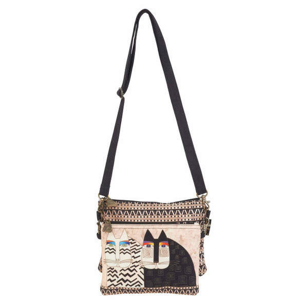 Laurel Burch Wild Cats Two Piece Crossbody Tote - LB6551A