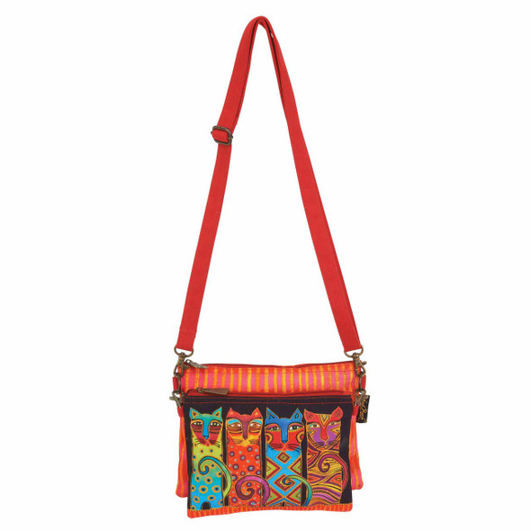 Laurel Burch Feline Clan Two Piece Crossbody Tote - LB6551B