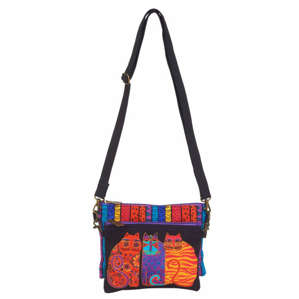 Laurel Burch Feline Friends Two Piece Crossbody Tote - LB6551D