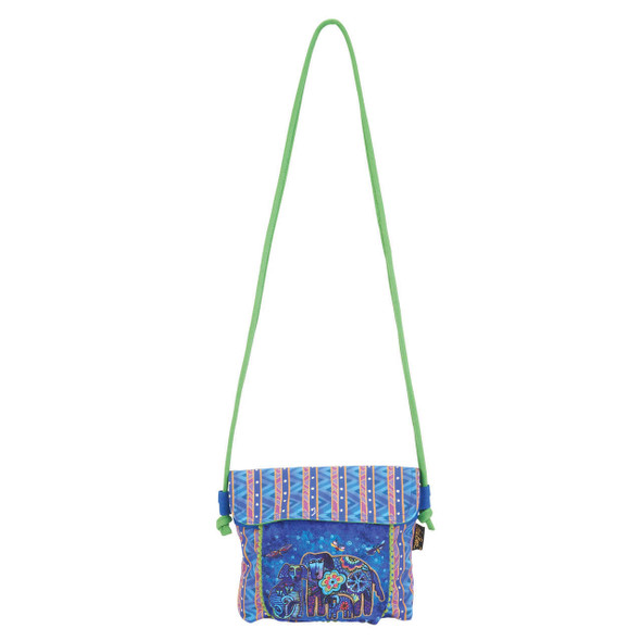 Laurel Burch Dog Doggies Flap Over Crossbody Tote - LB5904i