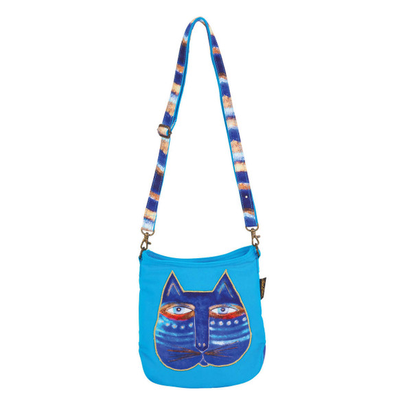 Laurel Burch Indigo Blue Feline Crossbody Bag LB6552B