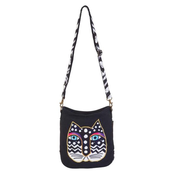 Laurel Burch Polka Dot Feline Crossbody Bag LB6552C