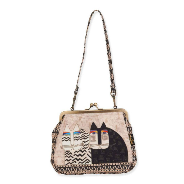 Laurel Burch Medium Clasp Purse Wild Cat - LB6559B