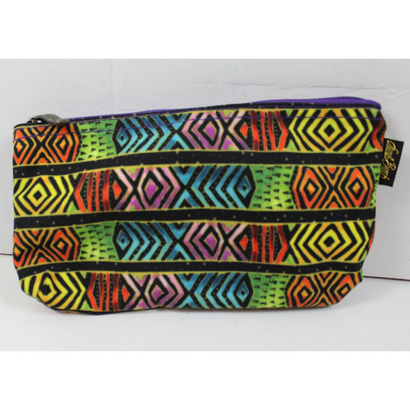 Laurel Burch Colorful Chevrons 9x5 Cosmetic Bags