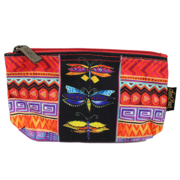 Laurel Burch Colorful Dragonfly 7x4 Cosmetic Bag