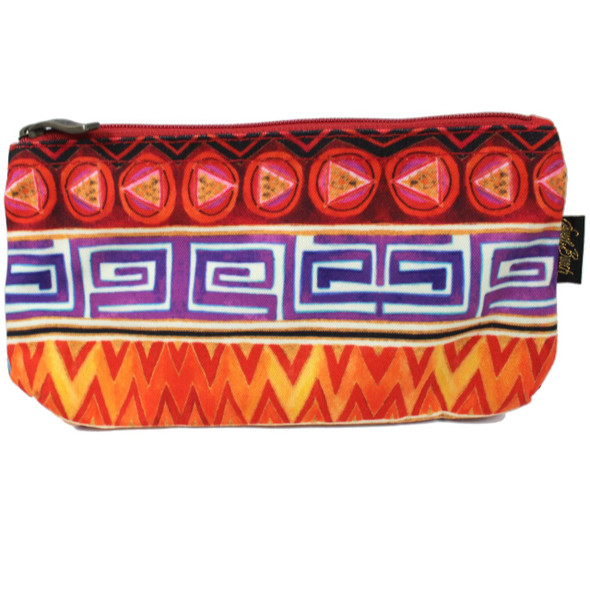 Laurel Burch Colorful Geometric 9x5 Cosmetic Bag