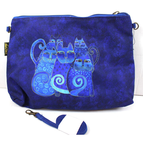 Laurel Burch Indigo Cats Large Clear Travel Tote 2 Piece SET - LB6550C