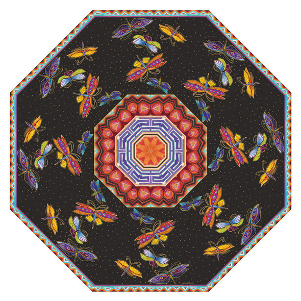 Laurel Burch Compact Folding Umbrella Dragonfly LBU014A