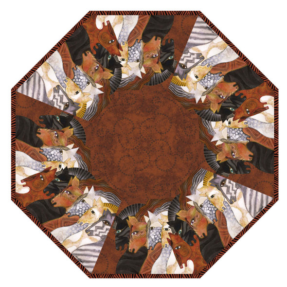 Laurel Burch Compact Folding Umbrella Moroccan Mares Horses LBU015A