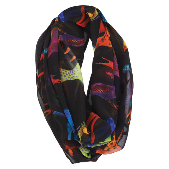 Laurel Burch Colorful Horses Artistic Infinity Scarf LBI217
