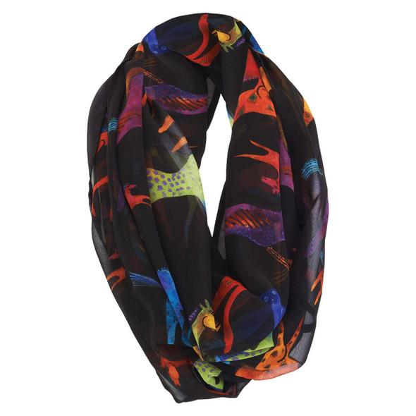 Laurel Burch Colorful Horses Artistic Infinity Scarf LBI217