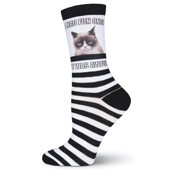 Women's Grumpy Cat I Had Fun Once Sub Crew Socks - GCWG15H006